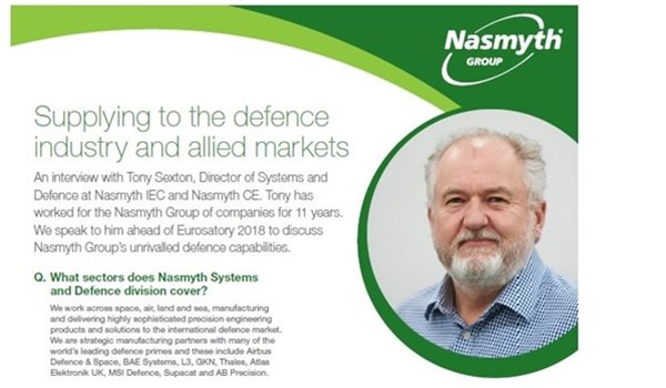 Nasmyth Group Supplying the Defence Industry and Allied Markets