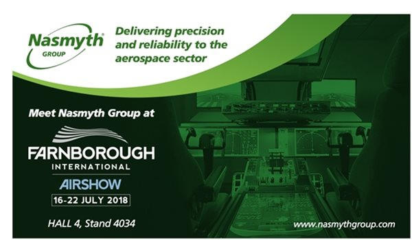 Nasmyth Group to demonstrate its extensive aerospace, defence and space capabilities at Farnborough International Airshow