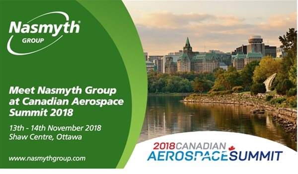 Nasmyth Group to attend 2018 Canadian Aerospace Summit