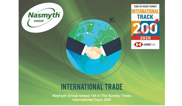 Nasmyth Group named in the Sunday Times HSBC International Track 200