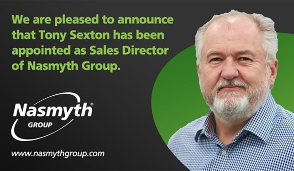 Tony Sexton appointed as Group Sales Director of Nasmyth Group